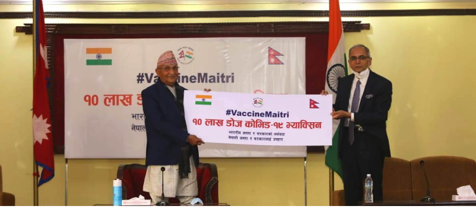 One million doses of 'Made in India' COVID19 vaccines gifted to Nepal