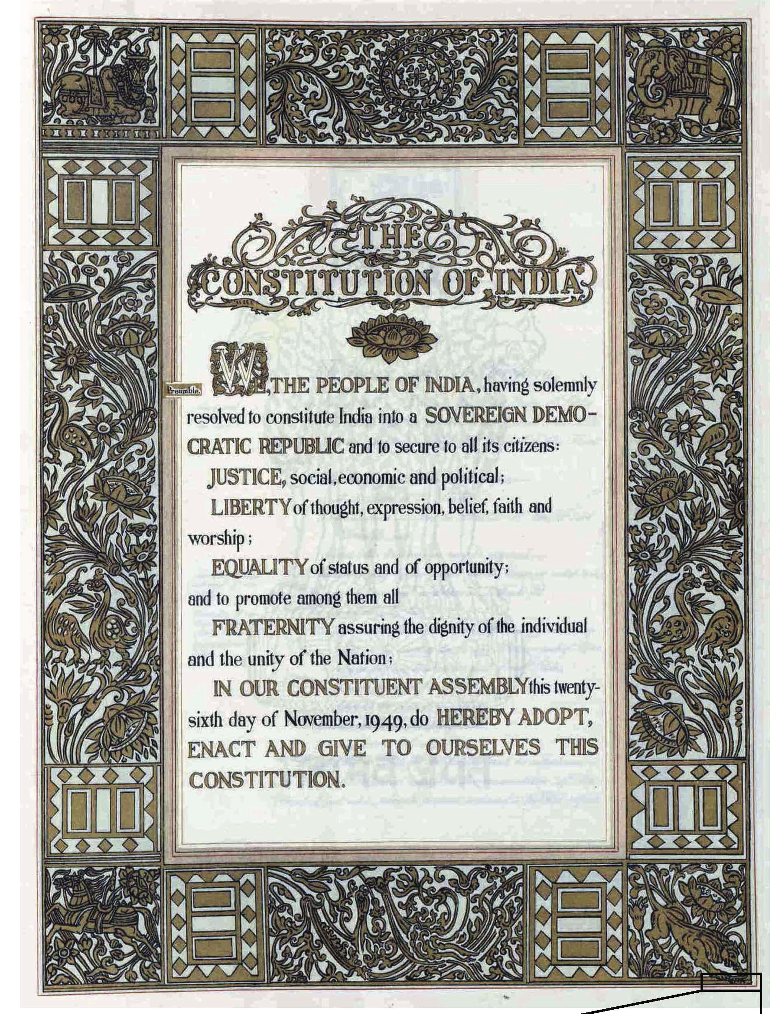 Preamble of Constitution Day 2020