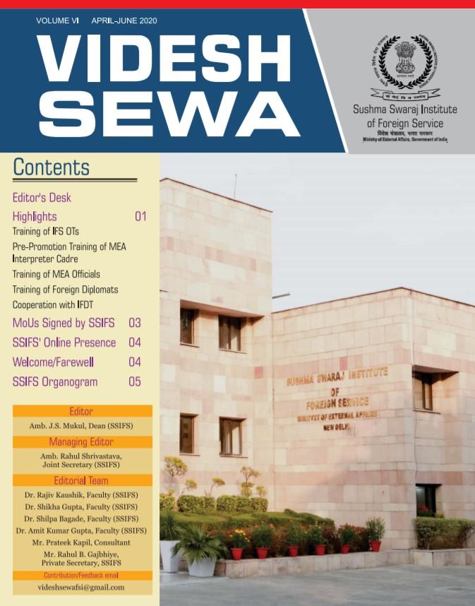 Videsh Sewa (SSIFS Newsletter) - 8th Issue for the quarter October-December 2020